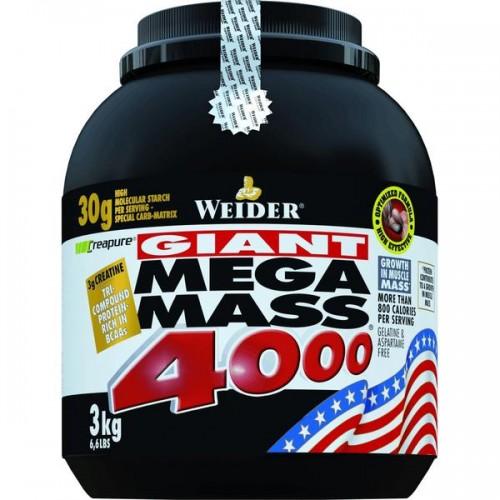 Weider, Mega Mass 4000, 3000 g